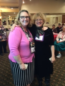 Member of the Month Susan Burns (r), pictured with Tameri Etherton