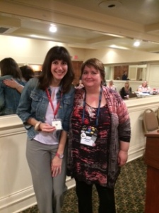 Member of the Month Kristin Rockaway (left) with RWASD President, Janet Tait.