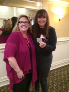 Member of the month Jillian Stone (right) with RWASD Vice-President Tameri Etherton.