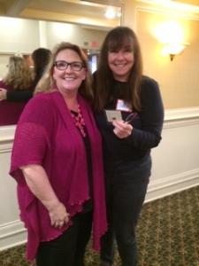 Member of the month Jillian Stone (right) with RWASD Vice-President Tameri Etherton.