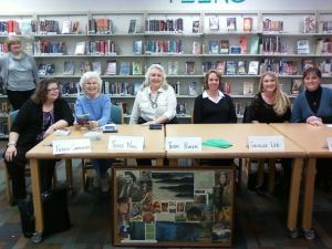 Terry and other members of RWA San Diego at a book signing.
