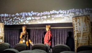 Laurie Kahn answering questions from the audience after the U.S. premiere of
