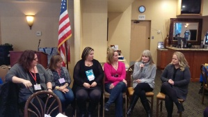 (l. to r.) HelenKay Dimon, Judy Duarte, Melissa Cutler, Georgie Lee, Linda Thomas-Sundstrom, Christy Jeffries